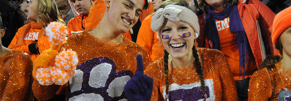 Sports fans at Clemson University, South Carolina