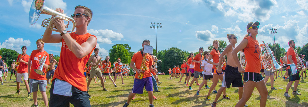 Clemson Tiger Band at Clemson University, South Carolina