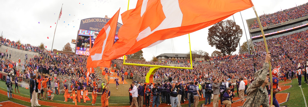 Sport Fans at Clemson University, South Carolina