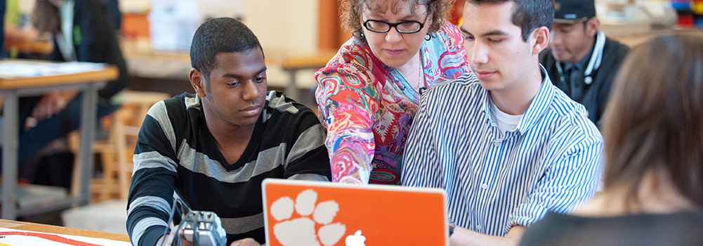 18-to-1 student/faculty ratio at Clemson University, South Carolina