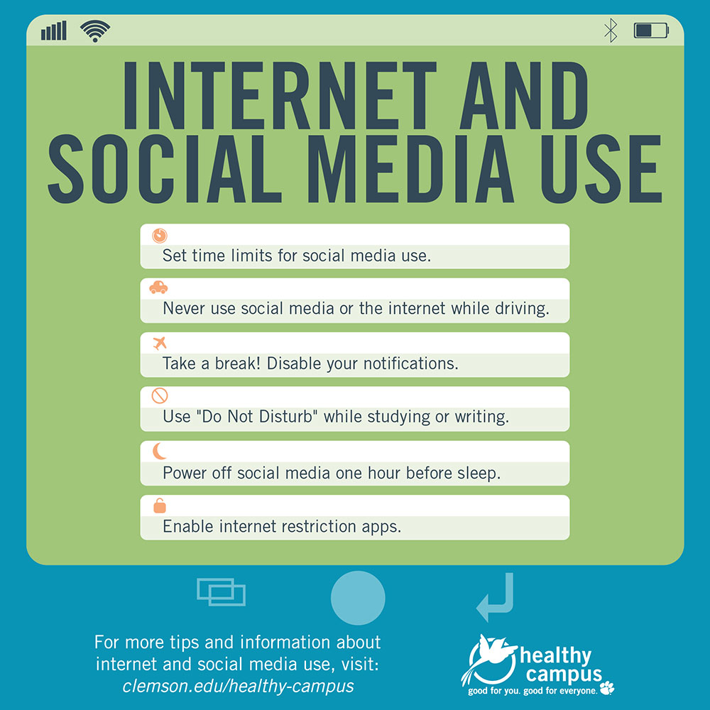 Internet and social media use clemson university student for Internet be and you