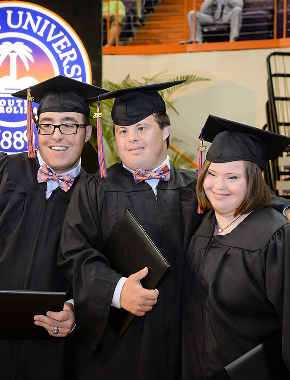 The ClemsonLIFE™ Program provides a college-campus postsecondary experience for students with intellectual disabilities. Clemson students serve as mentors who assist the program's students in reaching their potential.
