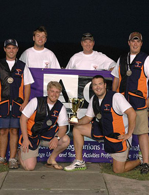 Join Clemson's relatively new shotgun club team. In 2011 they won first place in the sporting clays event at the Association of College Unions International National Collegiate Shotgun Championships.