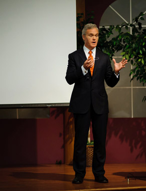 "Gain insight and inspiration from speakers like Scott Pelley of ""CBS Evening News"" and ""60 Minutes."" The Pearce Center for Professional Communication hosts authors and experts in speaking events and workshops that are open to students."