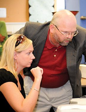 The Multimedia Authoring Teaching and Research Facility lab is a professional-level Web, multimedia and print design facility dedicated to promoting the use of multimodal instructional technologies.