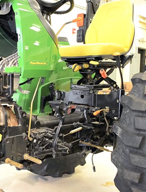 Our program has one of the world's only working cutaway tractors, built entirely by students. The John Deere cutaway is a one-of-a-kind, inside-out tractor, designed to exhibit the machine's inner workings.
