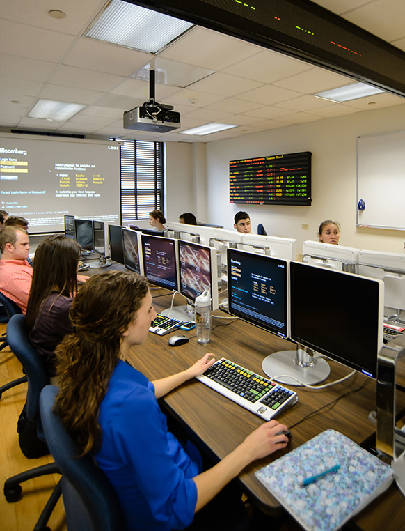 It's like Wall Street without leaving campus! The Clemson Trading Room offers students an opportunity to gain real-time trading experience using sophisticated technology.