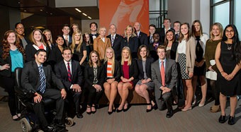 Thomas F. Chapman Leadership Scholars students pictured with Thomas and Karen Chapman, and Clemson President Jim Clements