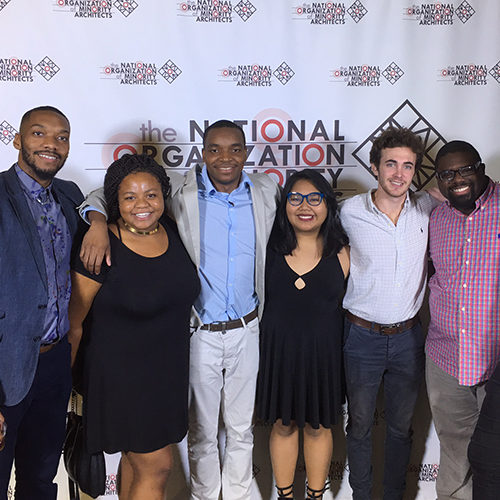 Rayshad with the Clemson National Organization of Minority Architect Students Chapter
