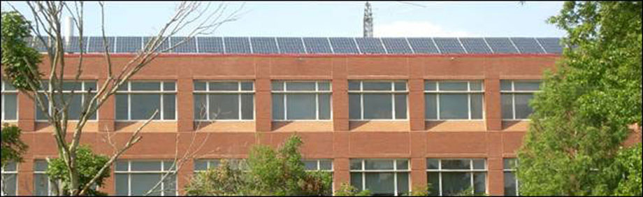 Solar panels in use at Clemson University, Clemson South Carolina