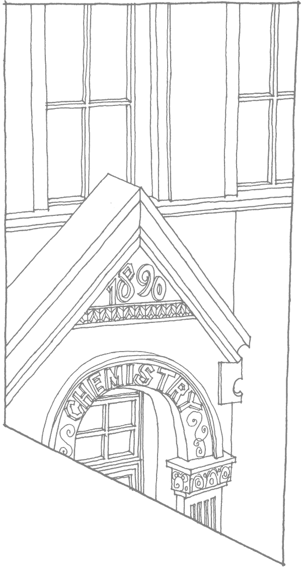 James Barker Illustration of Hardin Hall