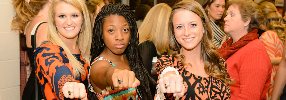 Class Ring Ceremony at Clemson University, South Carolina