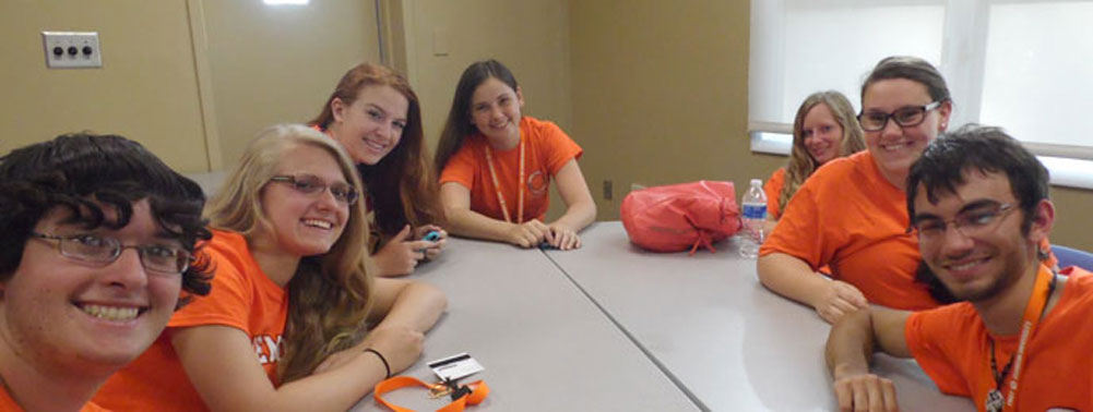 First students in the living and learning community at Clemson Univesrity, Clemson South Carolina