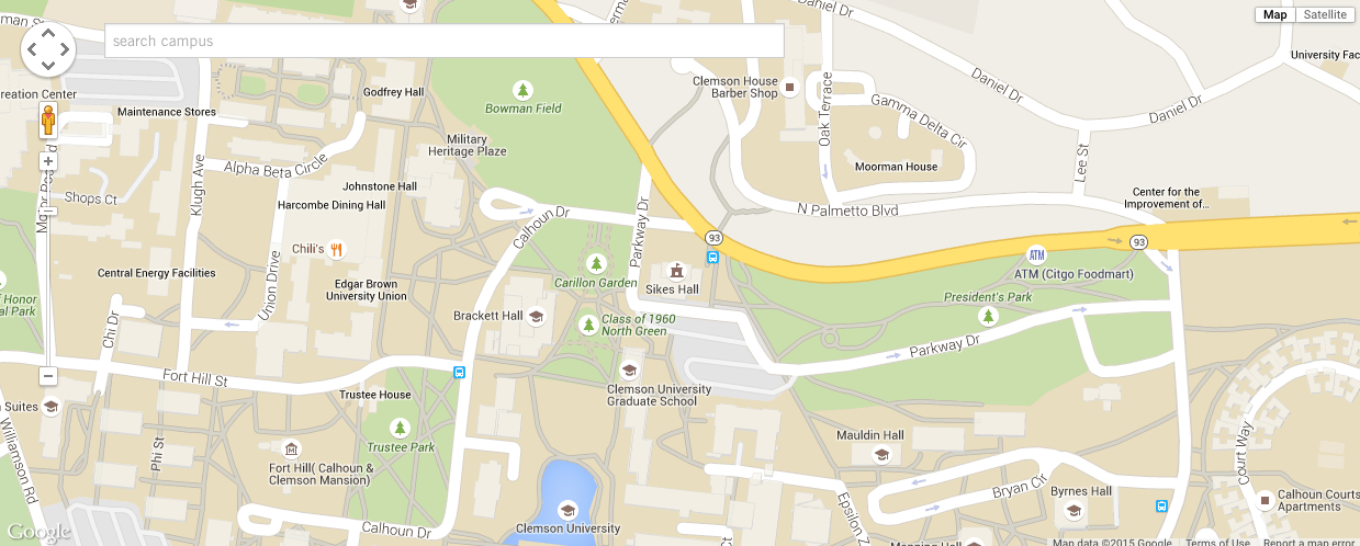 Where Is Clemson University Located On The Map Campus Map | Clemson University, South Carolina Where Is Clemson University Located On The Map