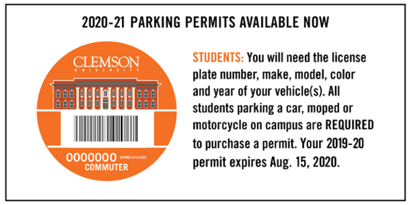Parking-Permits | Clemson University Student Affairs