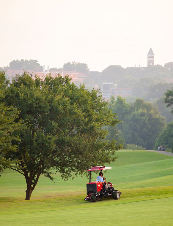 Campus is home to a prominent 18-hole championship course that employs a number of students learning the technical knowledge of these playing surfaces.