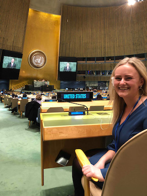 An individualized internship (and sometimes two!) develops job-relevant networks and key career directions. Students have interned with the United Nations, S.C. Supreme Court, U.S. congressmen and senators, corporations, schools and nonprofit
