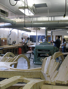 You will have access to our Digital Design Shop and Materials Lab, which is a hub for student and faculty design investigations and experimentation with digital fabrication, cad/cam, and rapid prototyping.