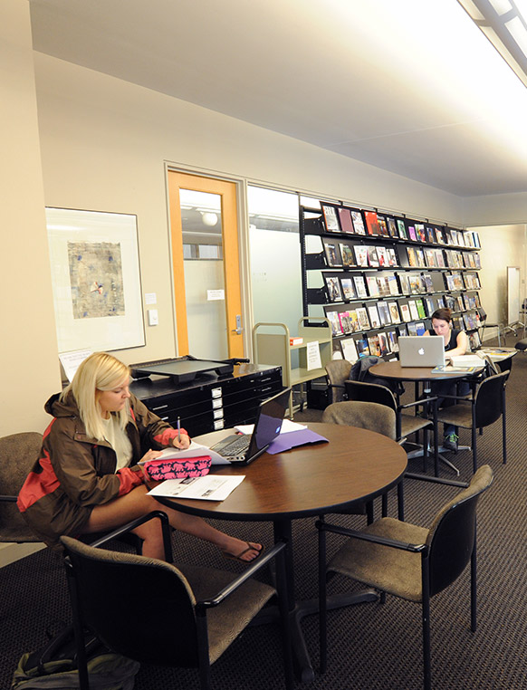 The Gunnin Architecture Library has more than 46,000 volumes of books and periodicals and 183 periodical subscriptions related to visual arts, design and building. Audiovisual equipment and architectural drafting aids are also available for use.