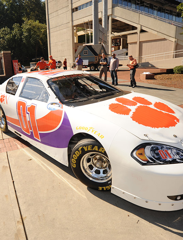 Work on real-world projects for well-known companies. In recent years, our students have partnered with companies such as Honda, Chevrolet, NASCAR and Clemson Athletics.