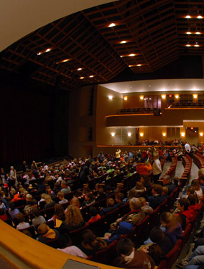 The Brooks Center for the Performing Arts is a living performing arts laboratory where visiting artists and industry professionals provide hands-on, behind-the-scenes learning experiences for all performing arts students.