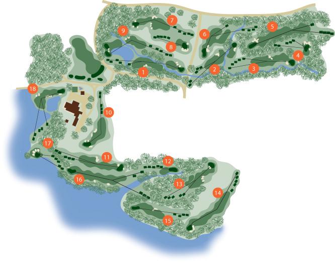 Golf Courses In South Carolina Map.Course Tour Clemson University South Carolina