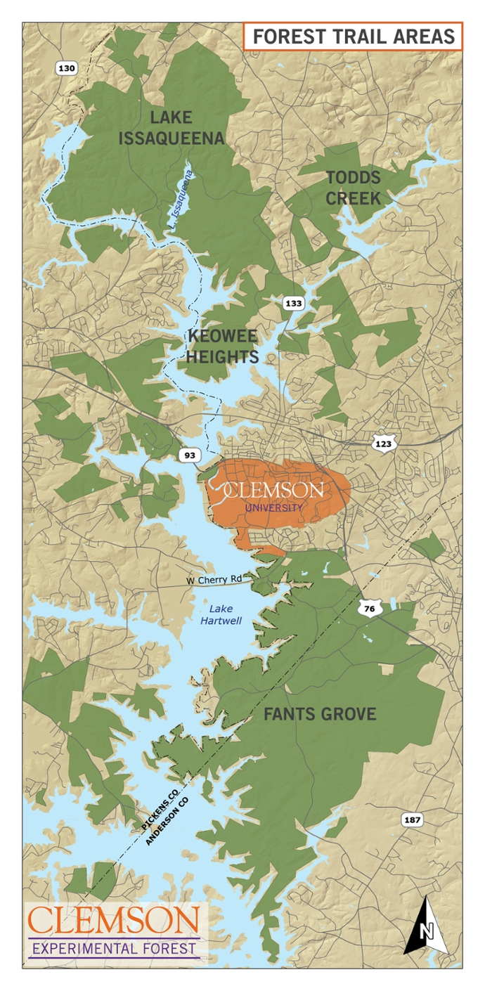 Clemson Experimental Forest Overview Map
